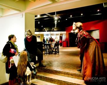 Pinocchio cast greet students post performance