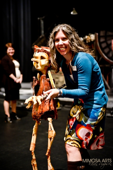 TPAC staff meet Pinocchio