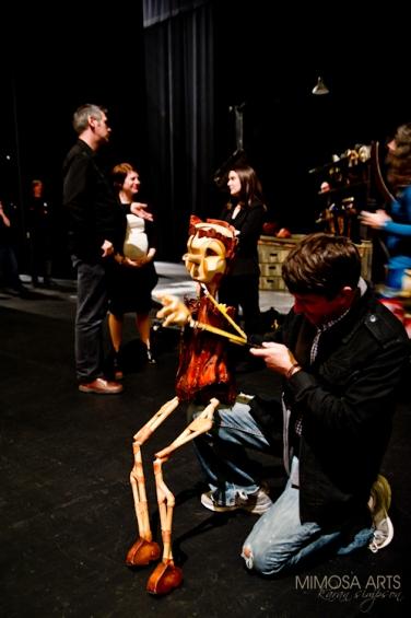 TPAC staff meet Pinocchio